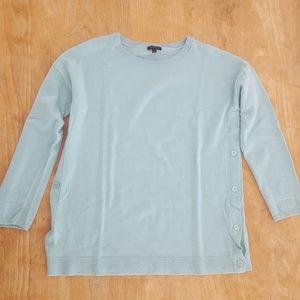 Talbots soft teal sweater